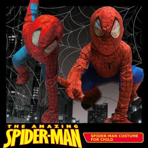 【スパイダーマン コスプレ 子供用 衣装 コスチューム】Child Spiderman-S チャイルドスパイダーマン 子供用S【028330】
