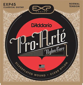 D'Addario EXP45 Coated, Normal Tension《クラシックギター弦》 【ネコポス】