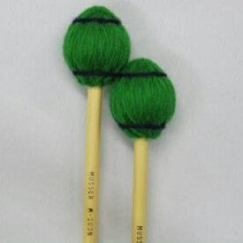 Musser 100 Series M-103 Medium 緑毛糸 【1ペア】《マリンバ、シンバル、小物打楽器用マレット》