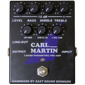 Carl Martin 3 BAND PARAMETRIC PREAMP 《プリアンプ/イコライザー》【送料無料】