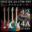 Schecter EX-24-CTM-FRT ≪4A Grade≫【送料無料】《ご希望のカスタム内容をお選び下さい》