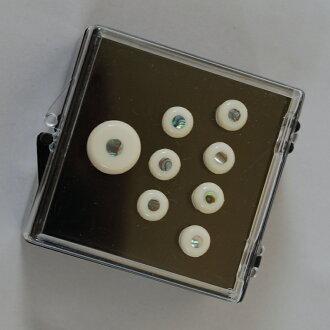 Martin Inlaid Bridge & Endpins 18APP42 (White/Pearl) 《 bridge pin & end tweezers 》
