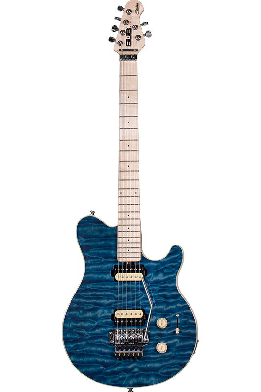 """Sterling by MUSIC MAN AX4 (Translucent Blue) """"S.U.B. Series"""" 《エレキギター》【送料無料】"""