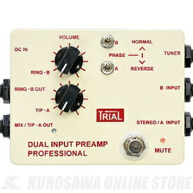 Trial DUAL INPUT PREAMP PROFESSIONAL / Acoustic Preamp(PROFESSIONAL) 《アコースティックプリアンプ》【送料無料】(ご予約受付中)