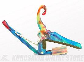 KYSER KG6TD カイザー クイックチェンジ 6弦アコースティックギター用カポ (Tie-Dye / タイダイ)《カポタスト》【ネコポス】