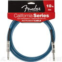 Fender Instrument Cables 10' California Cable (Lake Placid Blue)《シールド》