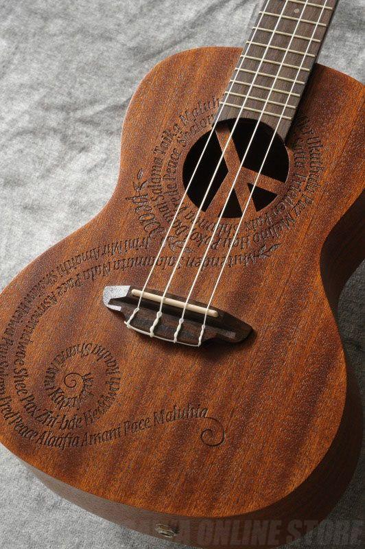 Luna Guitars Uke Maluhia (Peace) Concert Electric mah w/preamp [UKE MALU EL] (コンサートウクレレ)(送料無料)