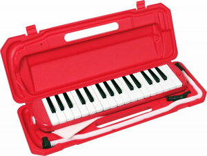 KC/キョーリツコーポレーション 鍵盤ハーモニカ キョーリツ メロディーピアノ(レッド) 《鍵盤ハーモニカ》 [P3001-32K]【今ならドレミシールプレゼント!!】