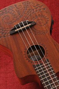 Luna Guitars Tattoo Concert Electric コンサート・ピックアップ付 [UKE TEC MAH]【送料無料】