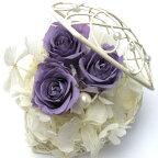 【プリザーブドフラワー造花】ハートジュエリーラベンダー【ギフト贈り物お祝い結婚】