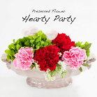 母の日造花プリザーブドフラワーハーティパーティカーネーションアレンジメントプレゼント贈り物ギフト