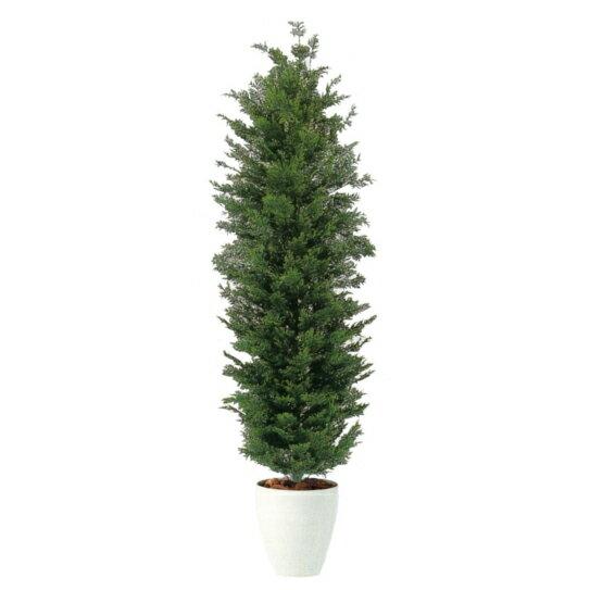 【観葉植物 造花 大型】シダーツリー(ひのき) 180cm【フェイクグリーン 樹木 SC/CT触媒・光触媒/インテリア/お祝い】