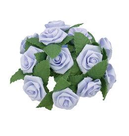 巻きバラL(12本束) BLUE(造花 花材 アートフラワー)
