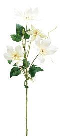 【12個から注文可能】クレマチス WHITE(造花 花材 アートフラワー)