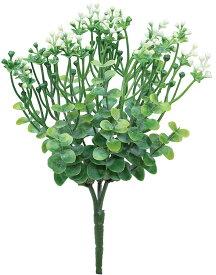 【12個から注文可能】ミニフラワーブッシュ WHITE(造花 花材 アートフラワー)