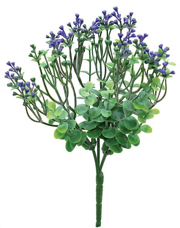 【12個から注文可能】ミニフラワーブッシュ LILAC(造花 花材 アートフラワー)