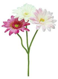 【12個から注文可能】ミニガーベラピック X3 PINK(造花 花材 アートフラワー)