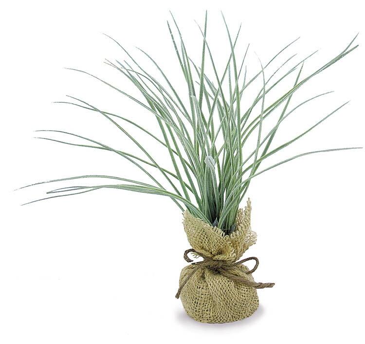 【12個から注文可能】バーラップポット(チャイブリーフ) (造花 花材 アートフラワー)
