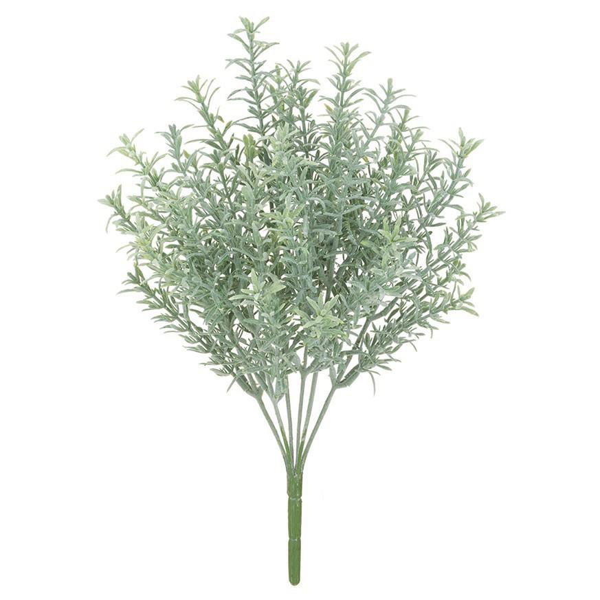 人工観葉植物 屋外対応 フロストローズマリーブッシュ 30cm 【フェイクグリーン 観葉植物 造花 光触媒 CT触媒 インテリア】[G-L]