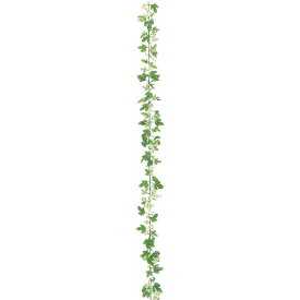 【フェイクグリーン】ニューアイビーガーランド ワイヤー入 グリーン/ホワイト 180cm 【観葉植物 造花 人工観葉植物 光触媒 CT触媒 インテリア】[G-L]