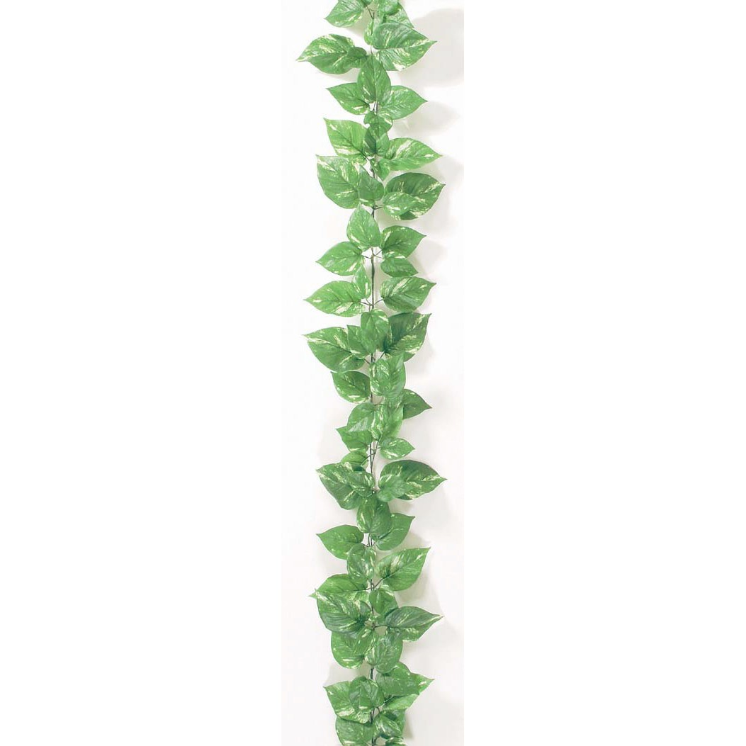 【人工観葉植物】デラックスポトスガーランド ワイヤー入 【観葉植物 造花 フェイクグリーン 光触媒 CT触媒 インテリア】[G-L]