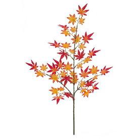 【人工観葉植物】秋風モミジスプレイ L レッド 紅葉 63cm 【フェイクグリーン 観葉植物 造花 光触媒 CT触媒 インテリア】[G-L]