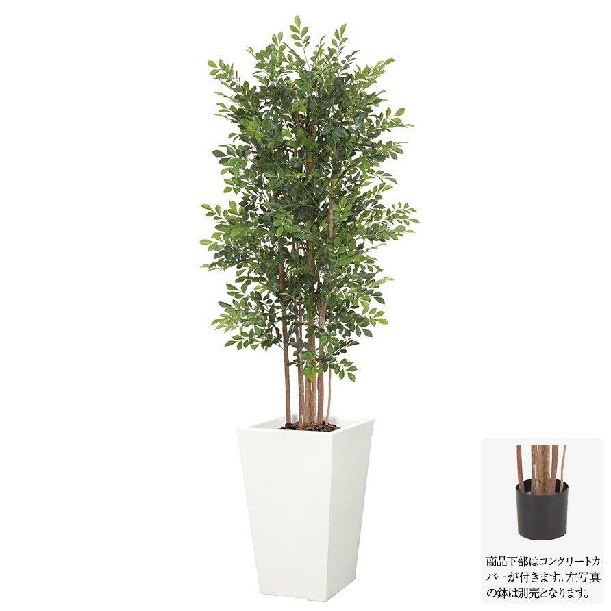 【人工観葉植物】トネリコツリー M ナチュラルトランク 150cm 【フェイクグリーン 大型 観葉植物 造花 光触媒 CT触媒 インテリア】[G-L]