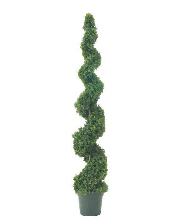 スパイラルシダーツリー 150cm【観葉植物 造花 大型 フェイクグリーン CT触媒/光触媒】[D-F]