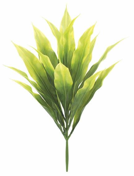 ドラセナブッシュ(プラスチック)《BC付》(グリーン/イエロー) [LEB-8178_GR_YL]【観葉植物 造花 CT触媒/光触媒 フェイクグリーン】[G-L]