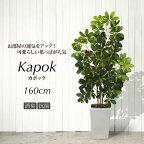 シェフレラフェイクグリーンナチュラルカポックツリー160cm斑入り(インテリア大型オフィス光触媒観葉植物造花人工観葉植物お祝い開店祝い)