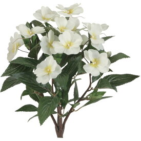 【人工観葉植物】インパチェンス(ホワイト) 33cm 【フェイクグリーン 観葉植物 造花 光触媒 CT触媒 インテリア】【楽ギフ_
