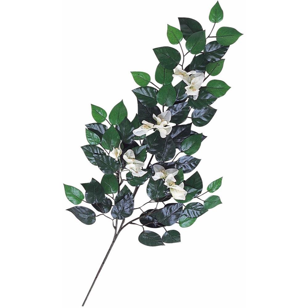 【フェイクグリーン】ブーゲンビリア(ホワイト) 77cm スプレイ 枝 【観葉植物 造花 人工観葉植物 光触媒 CT触媒 インテリア】