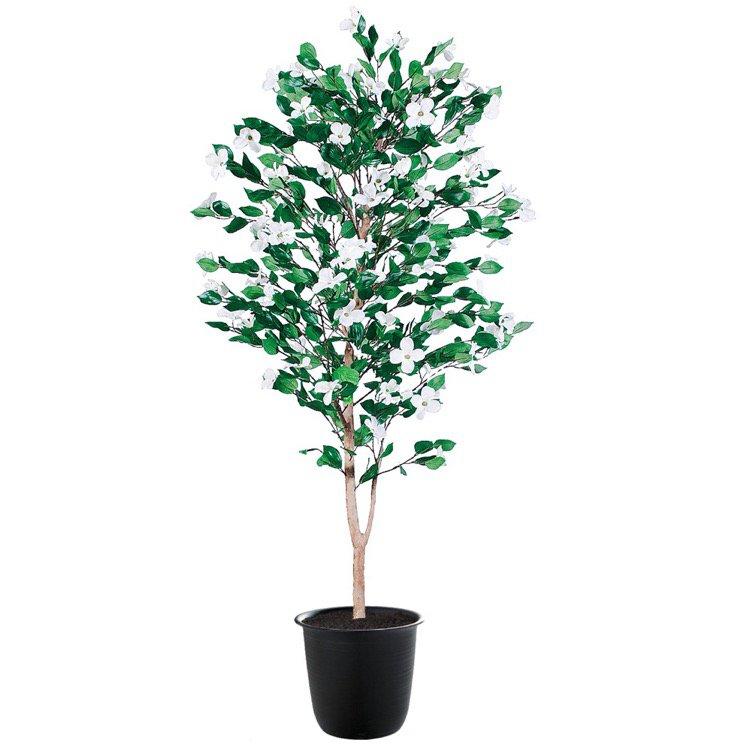 【フェイクグリーン 大型】 ハナミズキ 180cm 鉢植 【観葉植物 造花 人工観葉植物 光触媒 CT触媒 インテリア】