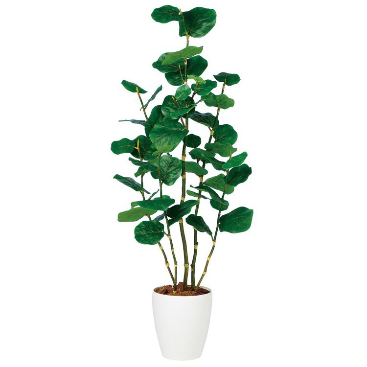 【観葉植物 造花】 シーグレープ 130cm 【フェイクグリーン 大型 人工観葉植物 光触媒 CT触媒 インテリア】【送料無料】