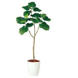 【観葉植物 造花】 ウンベラータ FST 120cm 鉢植 【人工観葉植物 大型 フェイクグリーン 光触媒 CT触媒 インテリア】
