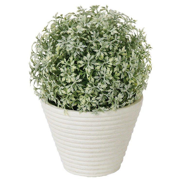【フェイクグリーン】 スノーメープルボールポット 【観葉植物 造花 人工観葉植物 光触媒 CT触媒 インテリア】