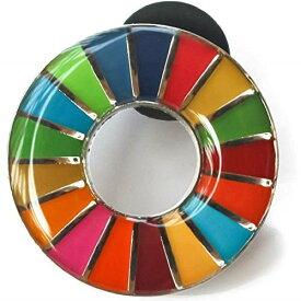 SDGs ピンバッジ 国連正規品 丸み仕上げ 2個