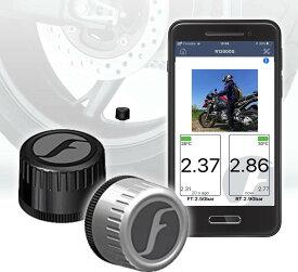 【売れ筋】FOBO Bike 2 TPMS 空気圧センサー バイク スマホでチェック タイヤ空気圧監視システム 取付簡単 防水 技適取得 日本語説明書付属1年間