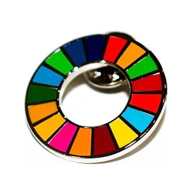 SDGs 国連 17色 公式 ピンバッジ バッジ バッチ バッヂ 襟章 留め具 日本未発売 正規品