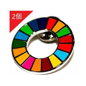 SDGs 国連 17色 公式 ピンバッジ バッジ バッチ バッヂ 襟章 留め具 日本未発売 正規品 2個