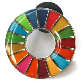 SDGs ピンバッジ 国連正規品 丸み仕上げ (10個)
