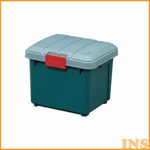 収納ボックス 収納ケース ボックス RV-BOX 400 グレー/ダークグリーン コンテナボックス アウトドア・カートランク 屋外収納 収納用品 ガレージ収納 トランク 釣り 工具ケース [03ss]【あす楽休