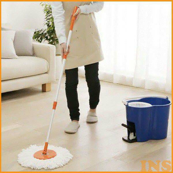 回転モップ ブルー KMO-450 アイリスオーヤマ 掃除用品 掃除 そうじ モップ 清掃用品 モップがけ 床掃除 大掃除 年末 あす楽対応