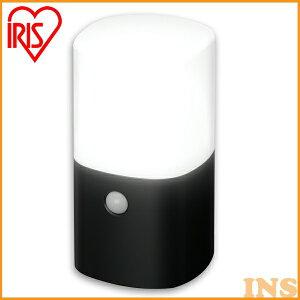 ≪送料無料≫アイリスオーヤマ 電池式LEDガーデンセンサーライト 角型 ZSL-MN1K-BK