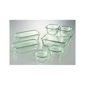 iwaki ガラス製 保存容器 7点セット PSC-PRN-G7 送料無料 イワキ ふた ガラス パック&レンジ レンジ オーブン 食品 ストック 耐熱ガラス つくおき 作り置き 保存 セット シンプル 整理 整頓 清潔 おしゃれ