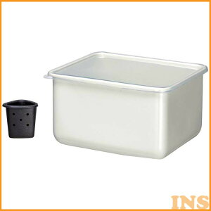 ホーローぬか漬けセット 4.0L ホワイト HSP-NS保存容器 容器 漬物 丸型 高木金属工業 【D】