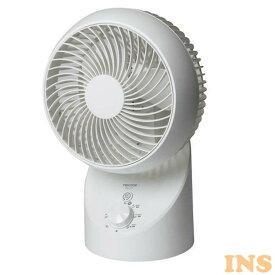 サーキュレーター 扇風機 360度 3D首振り サーキュレーター ホワイト SAK-330季節家電 夏物家電 熱中症対策 冷風 シンプル 夏 360度 上下左右 空気循環 エアコン併用 換気 部屋干し 自動首振り 扇風機 テクノス TEKNOS 【D】【B】 冷暖房エアコン クーラー