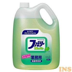 ファミリーフレッシュ 4.5kg 業務用 洗剤 食器 台所洗剤 油汚れ 泡切れ Kao ライムの香り プロフェッショナル 植物由来 【D】