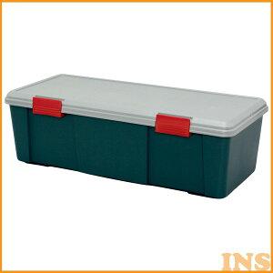 収納ボックス 収納ケース ボックス アイリスオーヤマ RVBOX RVボックス RVBOX 900D グレー/ダークグリーン コンテナボックス アウトドア カートランク 屋外収納 収納用品 ガレージ収納 トランク