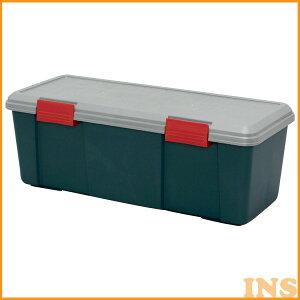 収納ボックス 収納ケース ボックス アイリスオーヤマ RV BOX 770D グレー/ダークグリーン 灯油 コンテナボックス アウトドア カートランク 屋外収納 収納用品 ガレージ収納 トランク 釣り 工具